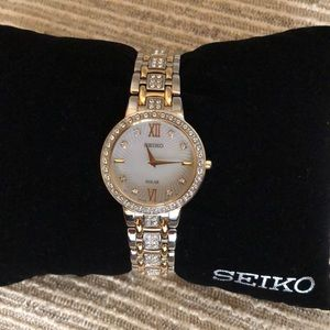 Seiko Ladies Solar Watch Swarovski SUP 360 NEW